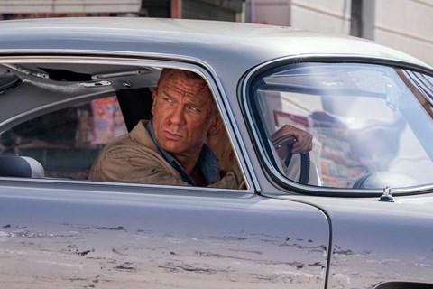 Daniel Craig as James Bond in his DB5