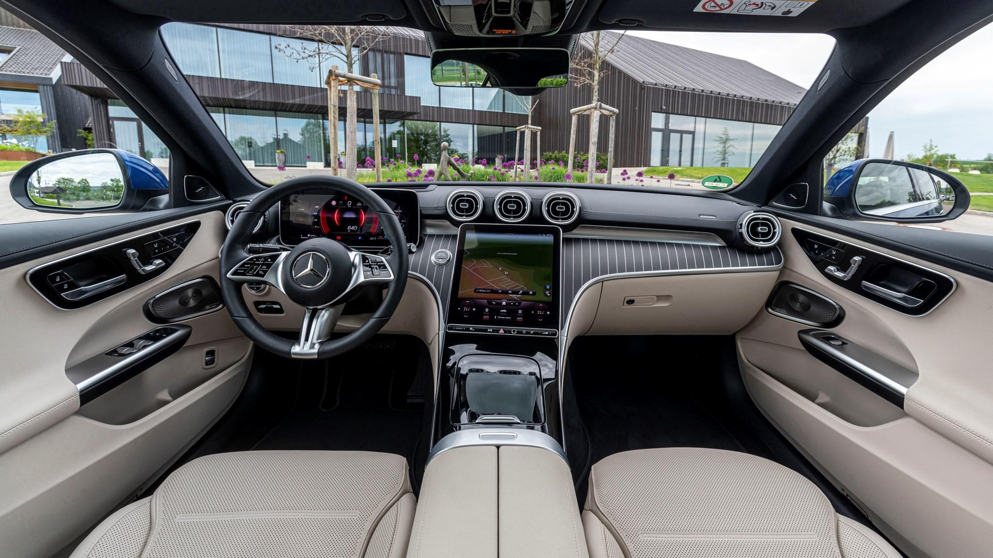 Mercedes C300e dash