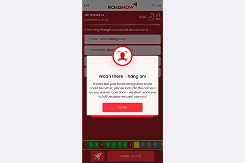 roadhow facial recognition