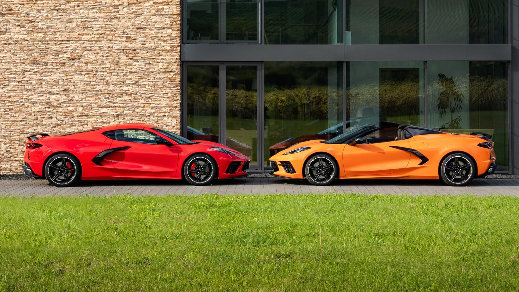 corvette c8 coupe and convertible