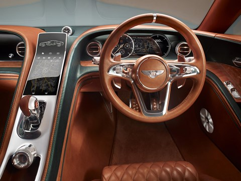 Inside the new Bentley EXP 10 Speed 6 concept car's cabin