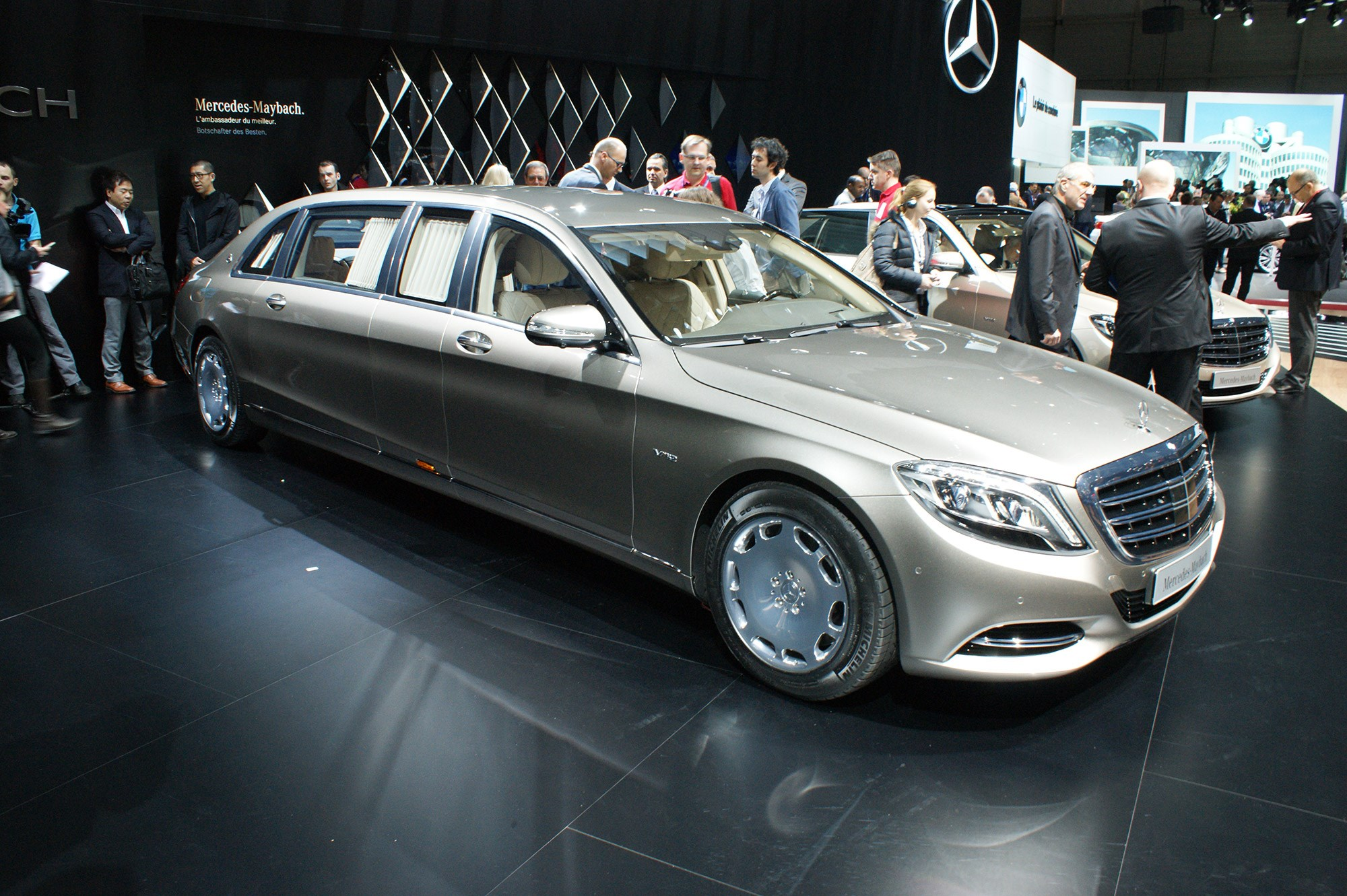 we're gonna need two parking spaces: mercedes-maybach pullman
