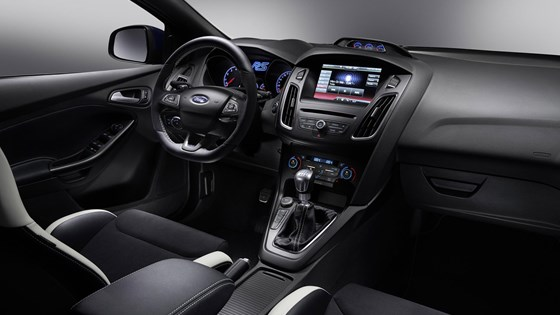 Inside the new 2016 Ford Focus RS cabin