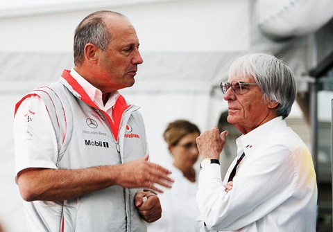 Bernie and Ron: a small part in the McLaren F1 supercar story