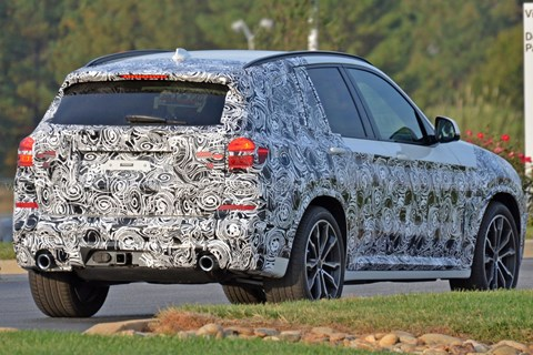 2017 BMW X3 spy shots