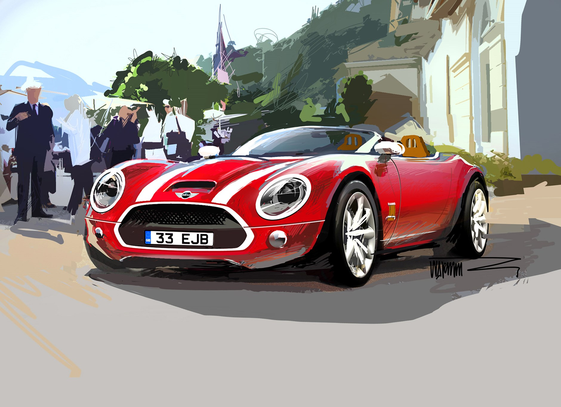 Mini Superleggera The Official Bmw Design Sketches