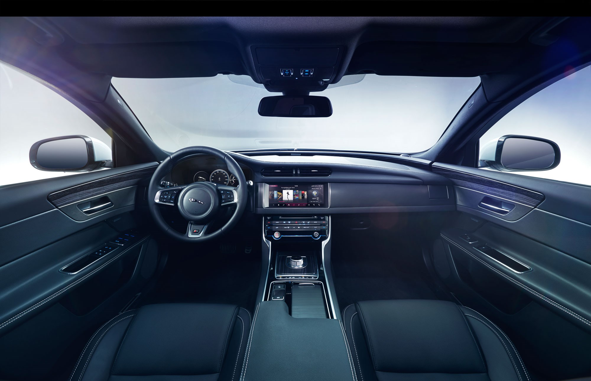 First official look inside the new jaguar xf interior