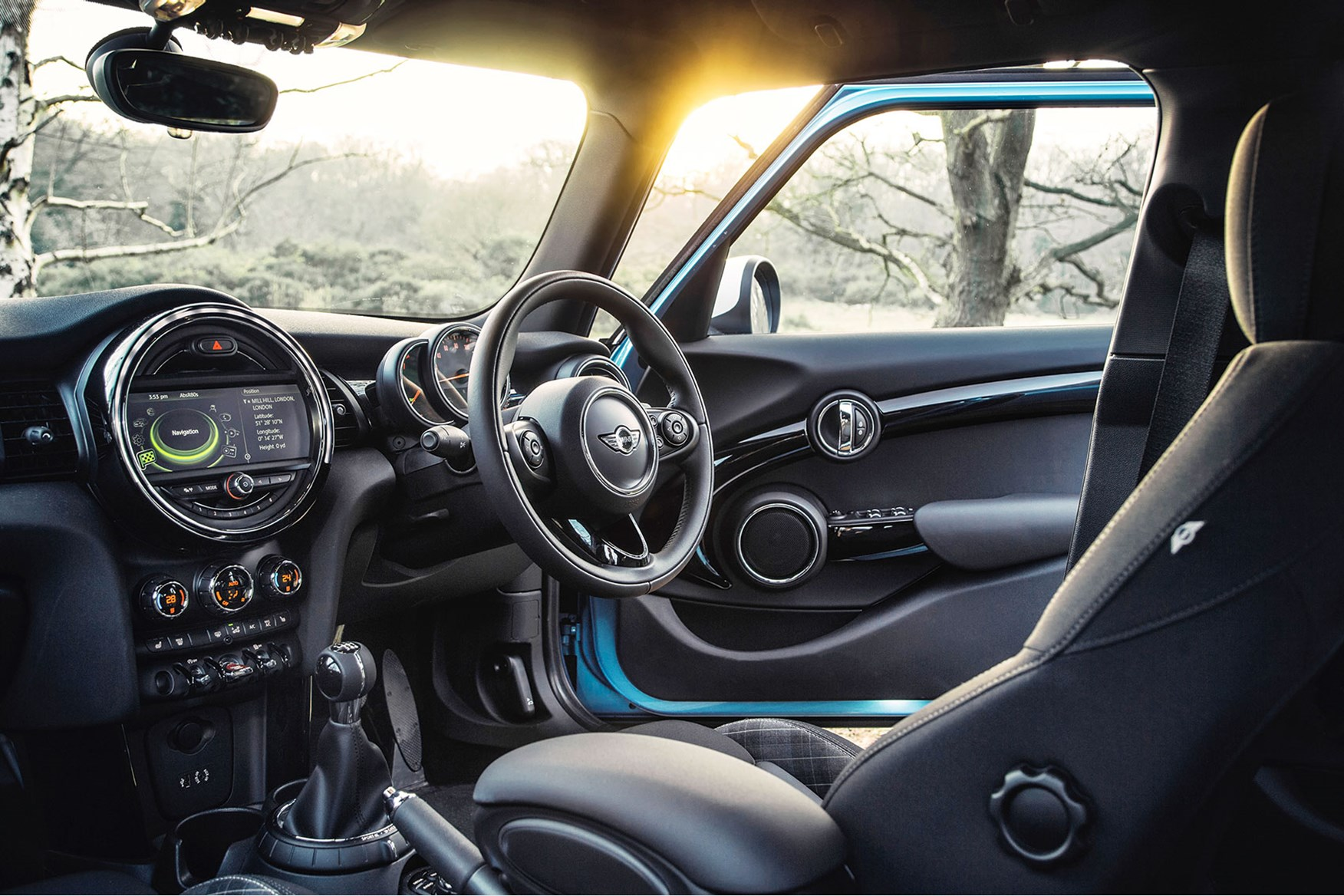 mini cooper interior 2015. mini 5dr big dials mood lighting and definitely more room in the front than back u0027 cooper interior 2015