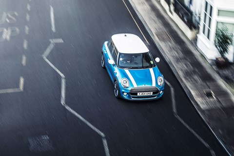 Our Mini on the mean streets of London