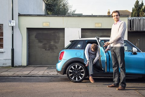 CAR's Ben Pulman(s) with the long-term Mini five-door