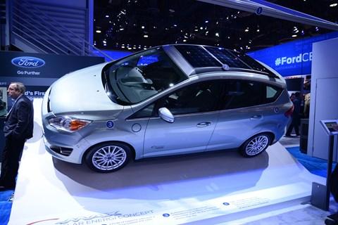 Solar panels on Ford C-Max Solar Energi