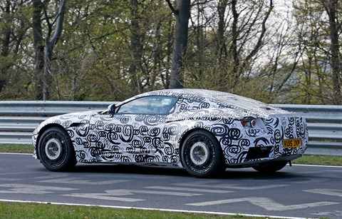 CAR magazine's spyshots of the 2016 Aston Martin 'DB11'