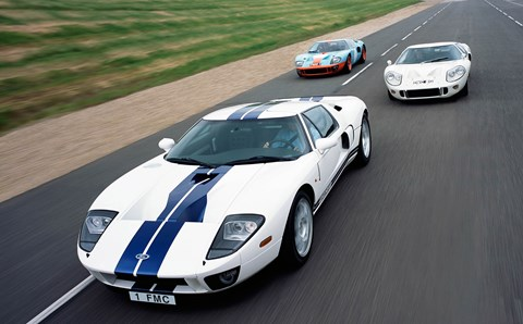 Ford GTs with and without the 40 bit