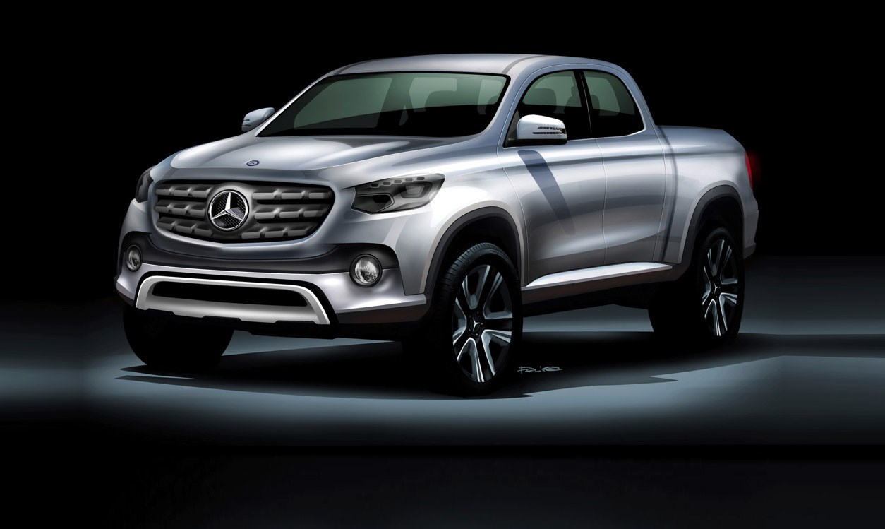 Mercedes benz confirms its first pick up truck by car magazine for Mercedes benz trucks