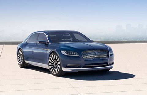 The 2015 Lincoln Continental concept car
