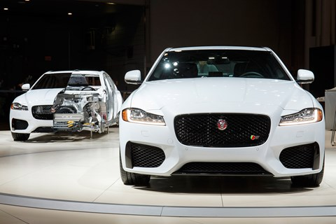 Lightweight aluminium tech baked into new 2015 Jag XF