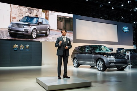 Land Rover design chief Gerry McGovern introduces the Range Rover SVAutobiography in New York
