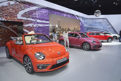 VW showed a quartet of Beetle special editions at New York. Three will make it to production