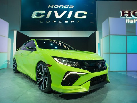 And the award for greenest car of the show goes to Honda...