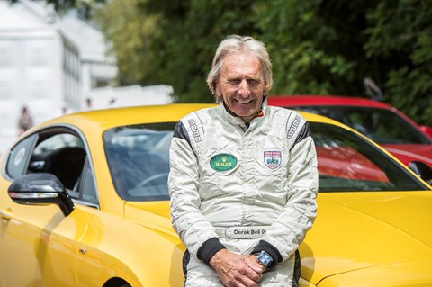 Derek Bell gets a special tribute at Goodwood FoS 2015