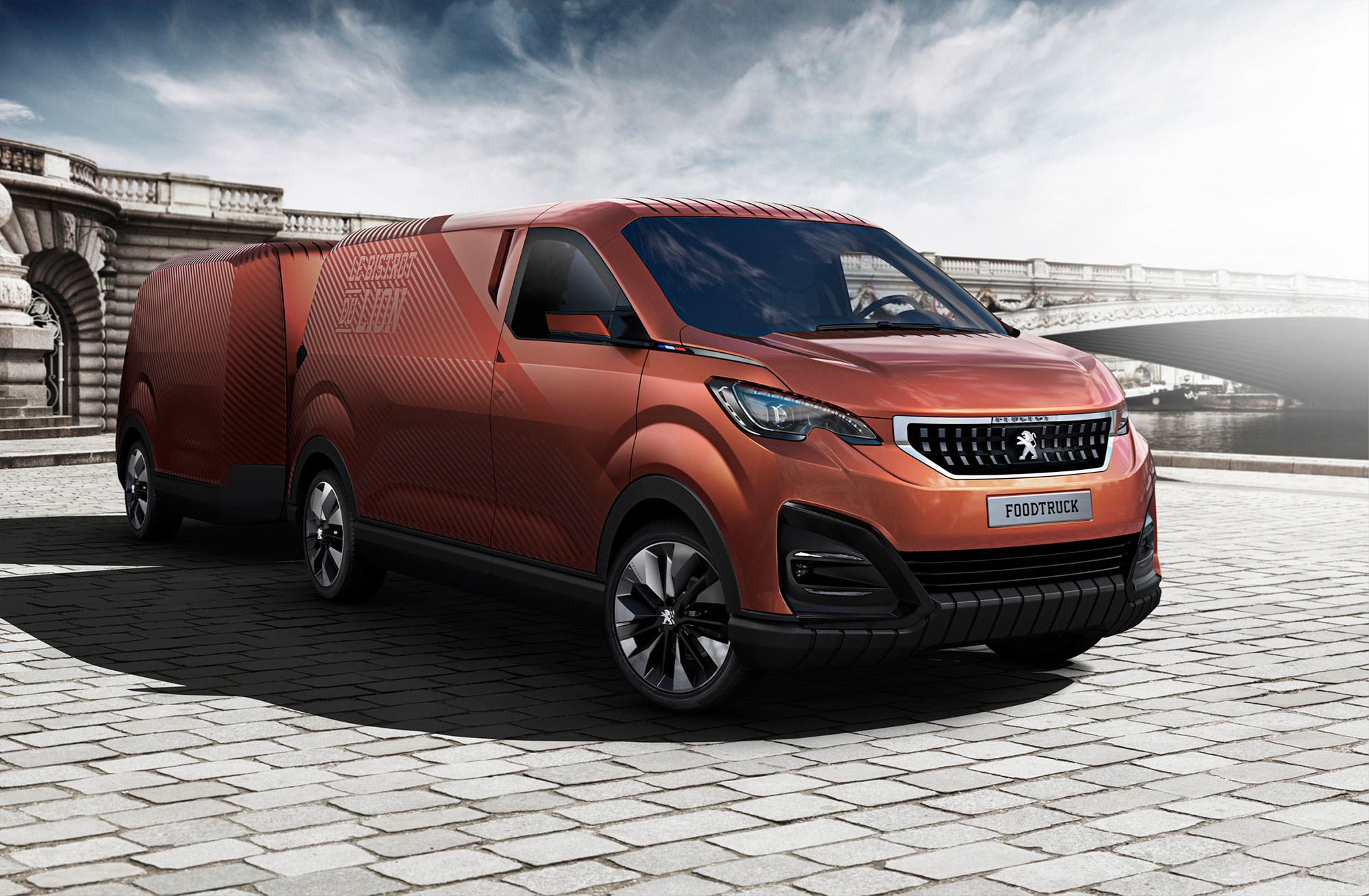 Peugeot Food Truck Burger Vans Reimagined By The French