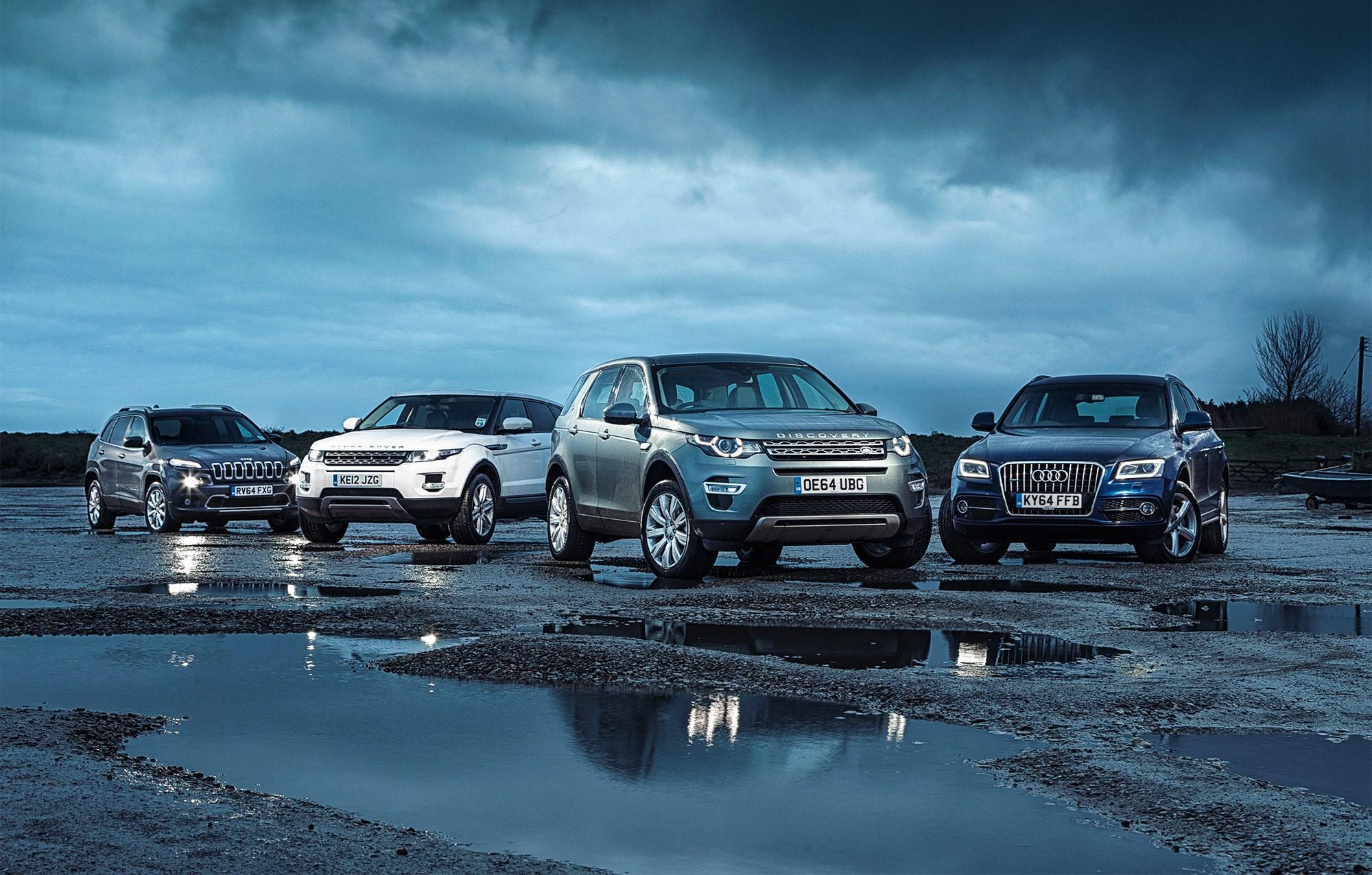 Bmw X3 Vs. Audi Q5 >> Land Rover Discovery Sport vs Audi Q5 vs Jeep Cherokee vs Range Rover Evoque (2015) group test ...