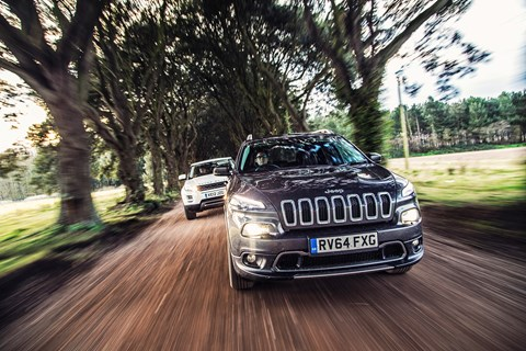 Jeep Cherokee comes last in this test. Edgy looks hide soggy dynamic ability