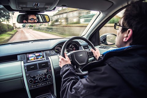 The Land Rover Discovery Sport cockpit
