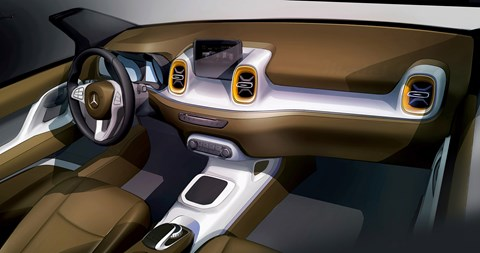 Rendering inside the Mercedes pick-up planned for 2018/19