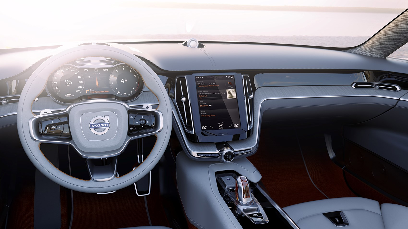 Volvo s90 and v90 big volvos are back in 2016 by car magazine for Auto interieur bekleden prijs