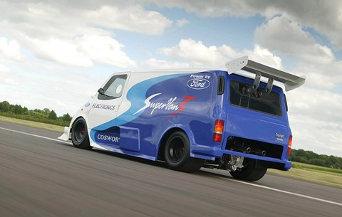 Ford Supervan: never has a Transit looked so mad!