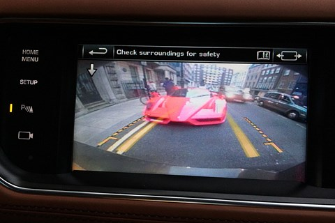 Range Rover Sport reversing camera