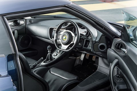 A Lotus Evora cabin is much plusher, though hardly Porsche-spec