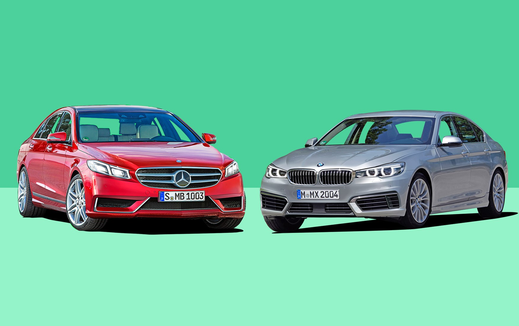 executive saloon fight 2016! next-gen bmw 5-series vs mercedes e