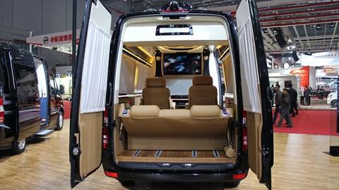 Luxury vans: popular in China