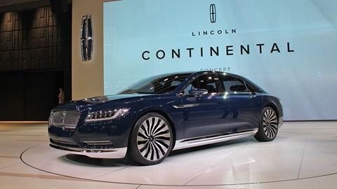 Lincoln Continental Shanghai motor show 2015