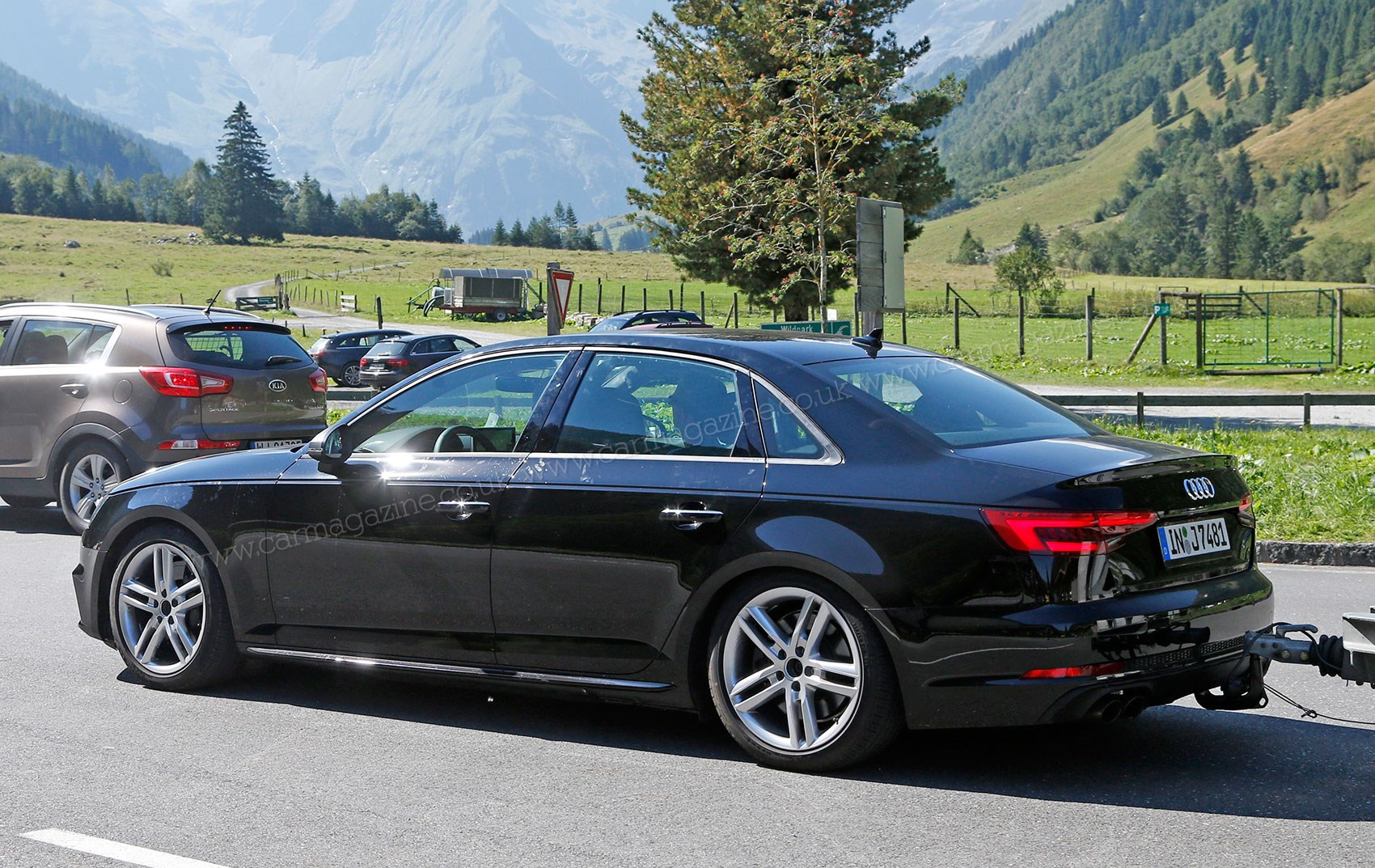 new 2016 audi s4 spied with barely any disguise car magazine. Black Bedroom Furniture Sets. Home Design Ideas