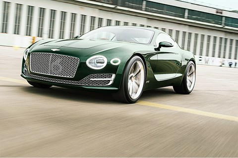 Only CAR magazine drives the new Bentley EXP 10 Speed 6 concept car - Crewe's Aston fighter