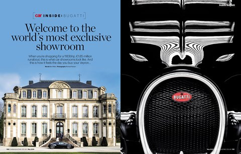 We visit Bugatti HQ to see the final Veyron, CAR magazine, May 2015 issue