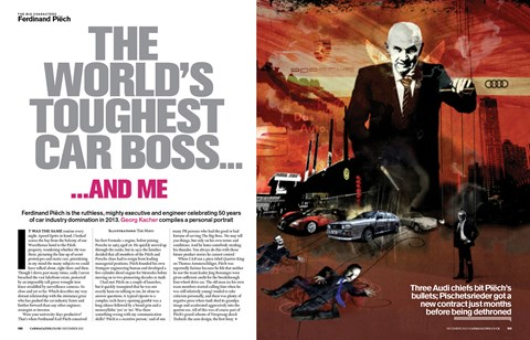 Georg Kacher profiled Ferdinand Piech in CAR magazine, December 2012. Click here to download the iPad edition