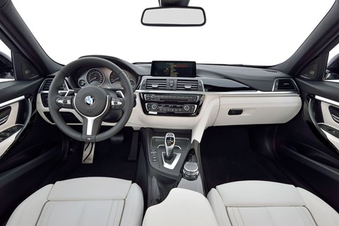 Inside new 2015 BMW 3-series cabin: not as sparkly as a C-class