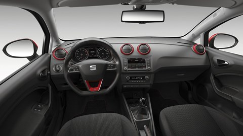 Inside the cabin of the new Seat Ibiza