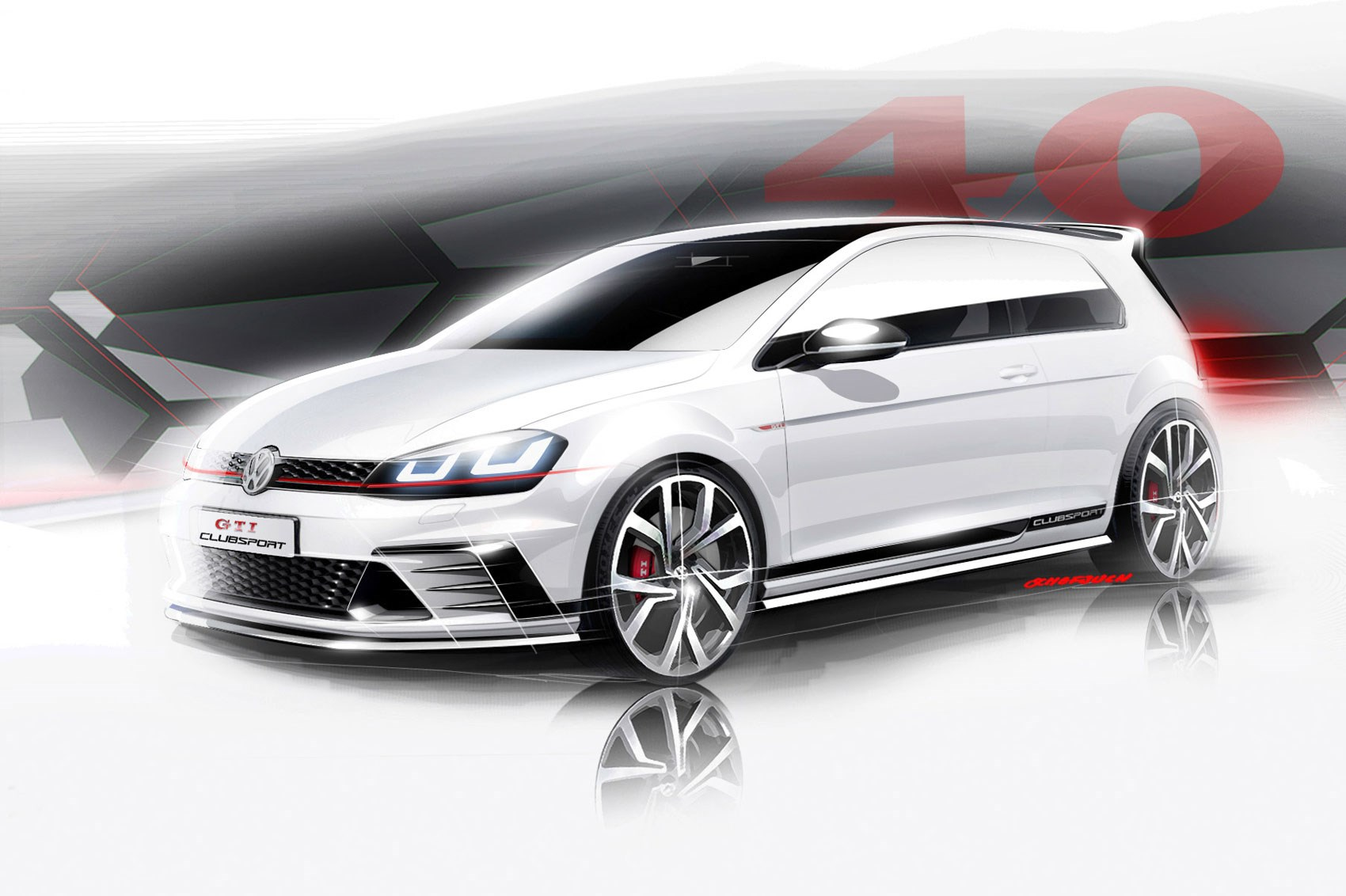 vw golf gti club sport 2015 a faster kind of gti. Black Bedroom Furniture Sets. Home Design Ideas