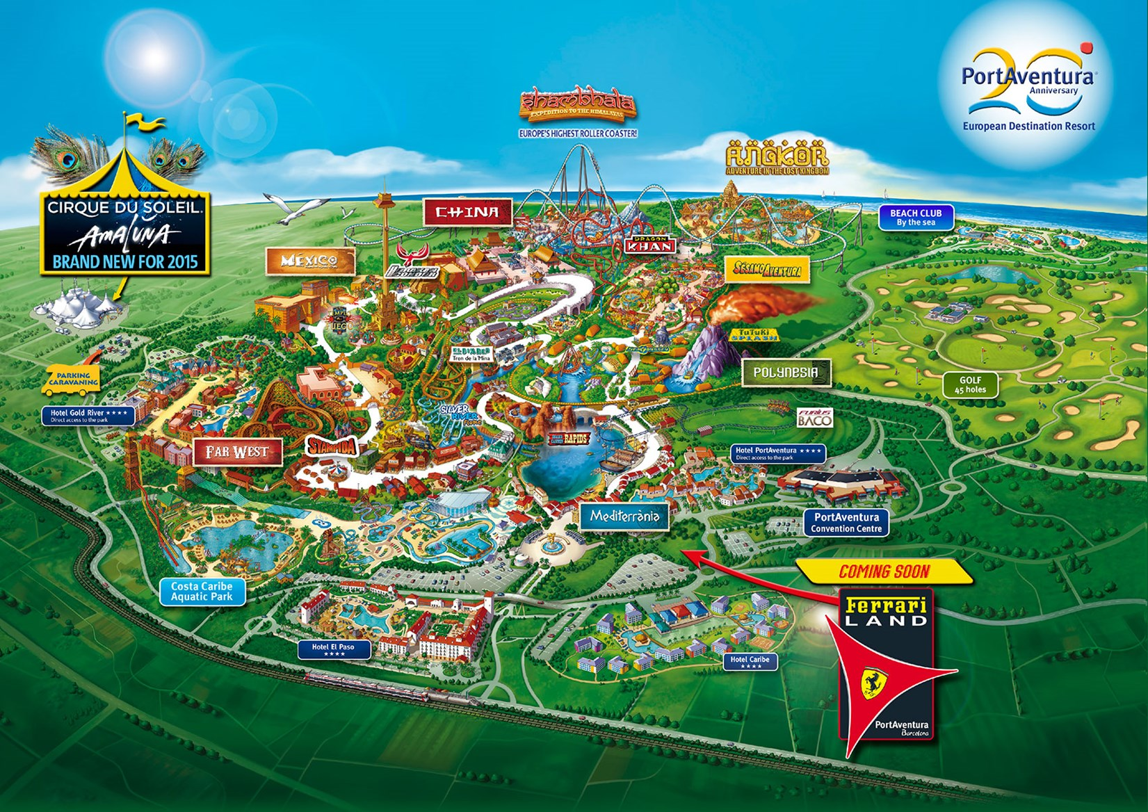 Ferrari World Map.A Brand Extension Too Far Ferrari Land Theme Park And Hotel To Open