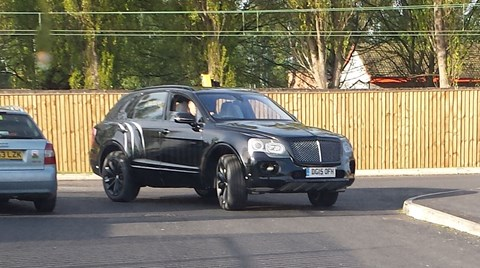 CAR reader Ben Stokoe spied this Bentley Bentayga at a McDonald's drive-through in Crewe, near the factory