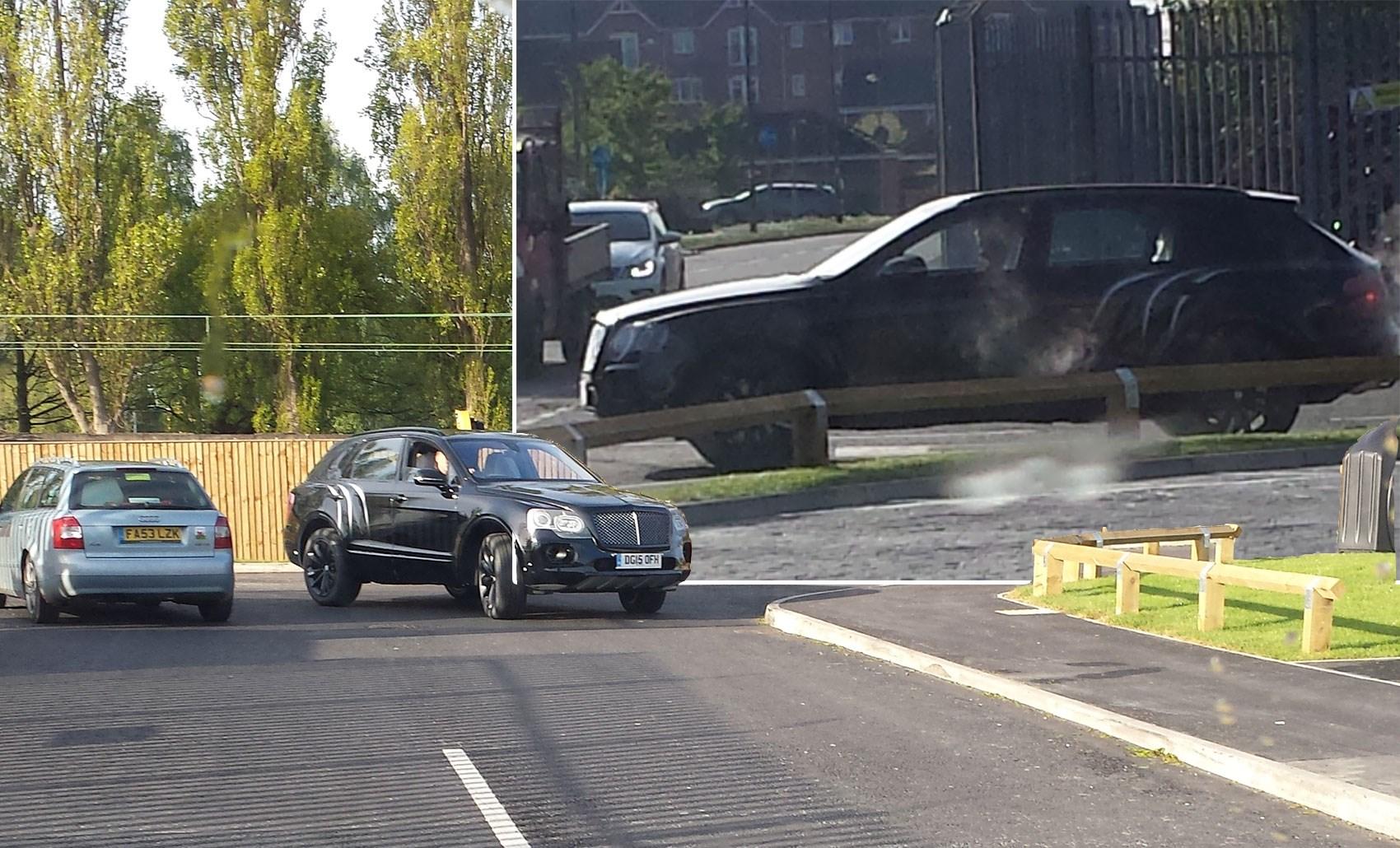 Bentley Bentayga On A Burger Run 4x4 Spied At Mcdonalds