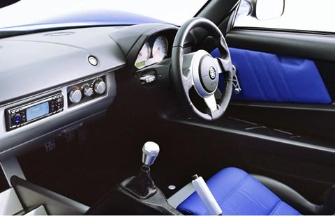 Inside the Vauxhall VX220 cabin: definite overtones of Lotus Elise in here