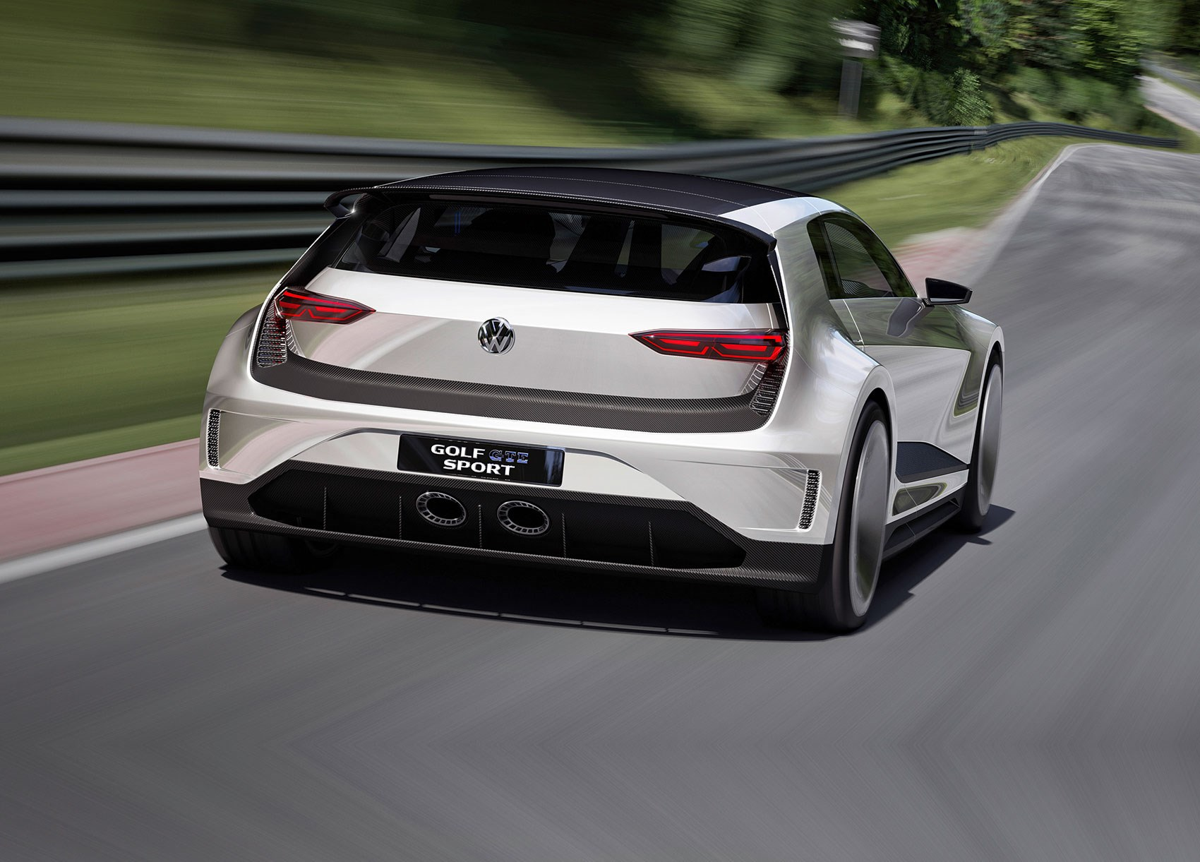 vw golf gte sport the outrageous carbon bodied 400bhp hybrid gti car magazine. Black Bedroom Furniture Sets. Home Design Ideas