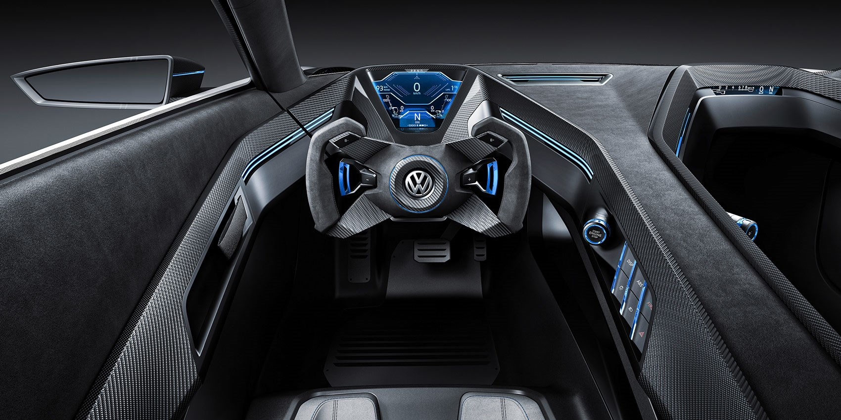 vw golf gte sport the outrageous carbon bodied 400bhp hybrid gti by car magazine. Black Bedroom Furniture Sets. Home Design Ideas