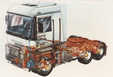 Marcello Gandini Renault Magnum lorry